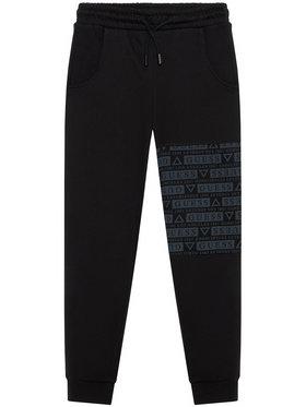 Guess Guess Teplákové kalhoty L1YQ11 KA6R0 Černá Regular Fit