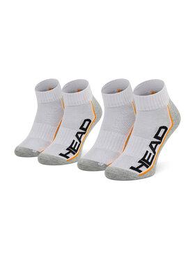 Head Head Súprava 2 párov kotníkových ponožiek unisex Performance Quarter 791019001 Biela