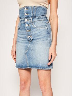 Guess Guess Miniszoknya Girl Mini Pin Up W02D06 D3LD2 Kék Regular Fit