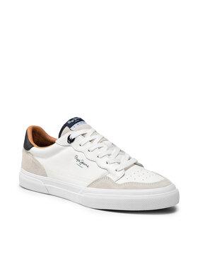 Pepe Jeans Pepe Jeans Sneakers aus Stoff Kenton Original 21 PMS30765 Weiß