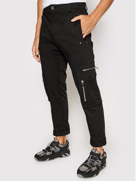 Les Hommes Les Hommes Bavlnené nohavice LLP133335U Čierna Regular Fit