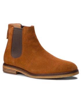 Clarks Clarks Kotníková obuv s elastickým prvkem Clarkdale Gobi 261362527 Hnědá