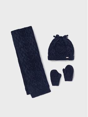 Mayoral Mayoral Комплект шапка, шал и ръкавици 10106 Тъмносин
