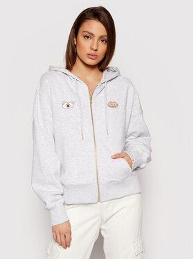 PLNY LALA PLNY LALA Sweatshirt Look And Kiss Miss PL-BL-MZ-00003 Grau Regular Fit