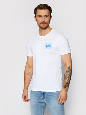 Lee Lee T-Shirt Ss Summer Logo L63LFELJ Weiß Regular Fit