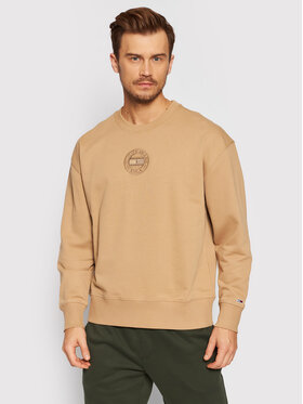 Tommy Jeans Tommy Jeans Mikina Tonal Circular Graphic Crew DM0DM11634 Béžová Relaxed Fit