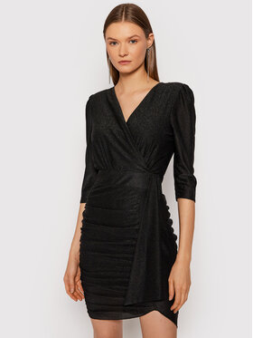 Rinascimento Rinascimento Sukienka koktajlowa CFC0105082003 Czarny Slim Fit