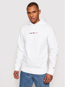 Tommy Jeans Tommy Jeans Mikina Tjm Straight Logo DM0DM10190 Biela Regular Fit
