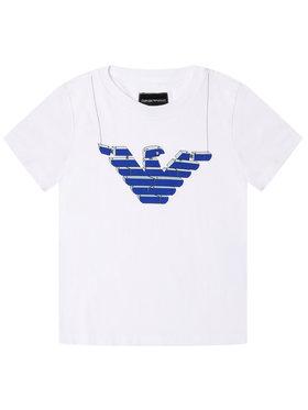 Emporio Armani Emporio Armani T-Shirt 3H4T10 4J09Z 0100 Weiß Regular Fit