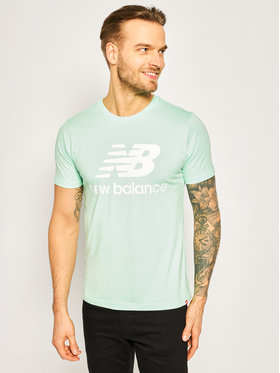New Balance New Balance T-Shirt Essentials Stacked Logo Tee MT01575 Zielony Athletic Fit