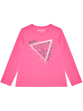 Guess Guess Bluză K1YI01 K6YW1 Roz Regular Fit