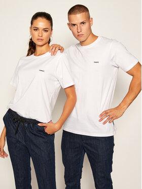 Diamante Wear Diamante Wear T-Shirt Unisex Basic Basic 5407 Biały Regular Fit