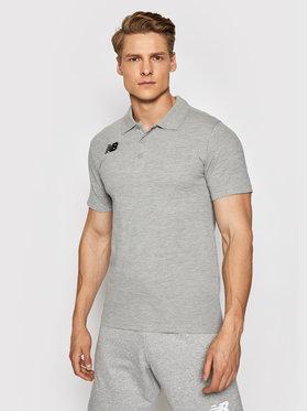 New Balance New Balance Тениска с яка и копчета MT71060 Сив Slim Fit