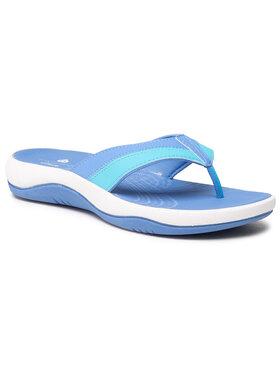 Clarks Clarks Šlepetės per pirštą Sunmaze Surf 261603394 Mėlyna