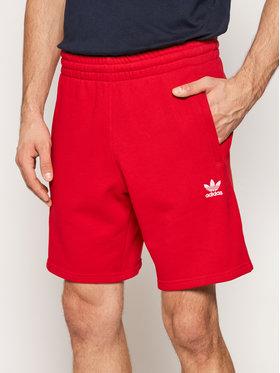 adidas adidas Αθλητικό σορτς Loungewear Trefoil Essentials GD2556 Κόκκινο Regular Fit