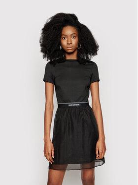 Calvin Klein Jeans Calvin Klein Jeans Φόρεμα καθημερινό J20J215692 Μαύρο Regular Fit
