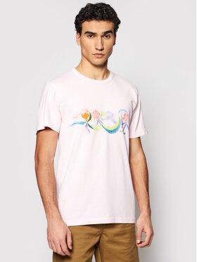 Vans Vans T-shirt CHRIS JOHANSON VN0A5EB5 Ružičasta Slim Fit