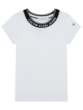 Calvin Klein Jeans Calvin Klein Jeans T-shirt Logo Collar IG0IG01012 Bijela Slim Fit
