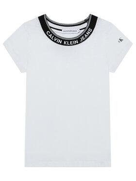 Calvin Klein Jeans Calvin Klein Jeans T-shirt Logo Collar IG0IG01012 Blanc Slim Fit