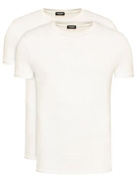 Dsquared2 Underwear Dsquared2 Underwear 2-dielna súprava tričiek DCX200050 Biela Slim Fit