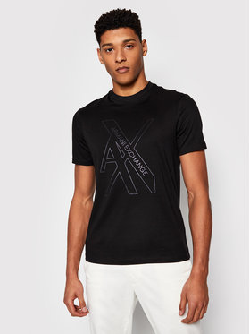 Armani Exchange Armani Exchange T-Shirt 3KZTLC ZJ9AZ 1200 Czarny Regular Fit
