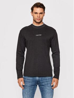 Calvin Klein Calvin Klein Тениска с дълъг ръкав Center Logo K10K107886 Черен Regular Fit