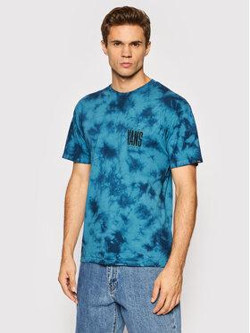 Vans Vans T-Shirt Tall Type Tie Dye VN0A5FQZ Niebieski Regular Fit