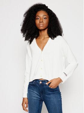 Tommy Jeans Tommy Jeans Strickjacke Essential DW0DW10123 Weiß Regular Fit