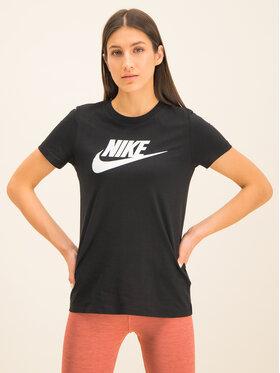 NIKE NIKE T-Shirt Essential Icon BV6169 Černá Regular Fit
