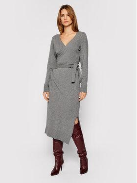 Trussardi Trussardi Плетена рокля 56D00402 Сив Regular Fit