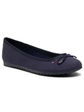 Tommy Jeans Tommy Jeans Balerinos Essential Tommy Jeans Ballerina EN0EN01284 Tamsiai mėlyna