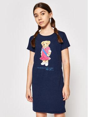 Polo Ralph Lauren Polo Ralph Lauren Ежедневна рокля Bear 313837200001 Тъмносин Regular Fit
