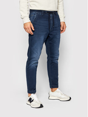 Pepe Jeans Pepe Jeans Joggers kalhoty New Johnson PM205897 Tmavomodrá Relaxed Fit