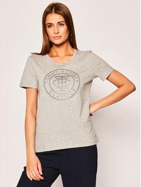 Tommy Hilfiger Tommy Hilfiger T-Shirt Tiara WW0WW27137 Γκρι Regular Fit