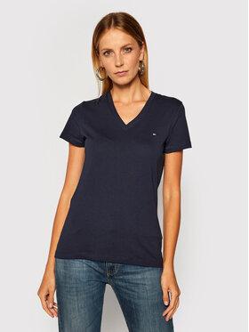 Tommy Hilfiger Tommy Hilfiger T-Shirt Heritage V-Neck Tee WW0WW24969 Σκούρο μπλε Regular Fit