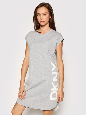 DKNY DKNY Strickkleid P0RD1B2J Grau Regular Fit