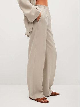 Mango Mango Pantaloni din material Kimo 87016311 Bej Regular Fit
