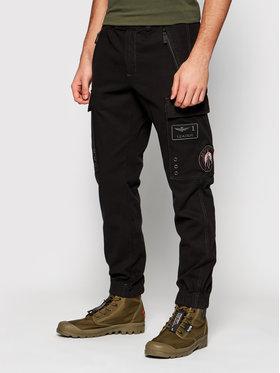Aeronautica Militare Aeronautica Militare Joggers kalhoty 211PA1436CT2840 Černá Regular Fit