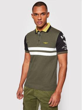 Aeronautica Militare Aeronautica Militare Polo marškinėliai 211PO1537P178 Žalia Slim Fit