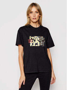 Local Heroes Local Heroes T-Shirt Daisy Fields SS21T0004 Czarny Regular Fit