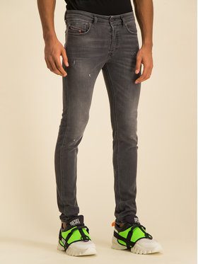 Diesel Diesel Skinny Fit Jeans Sleenker-X 00SWJG 069JR Grau Skinny Fit