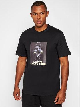 MSGM MSGM T-Shirt DAVID AUGUSTO 2940MM206 207598 Czarny Regular Fit