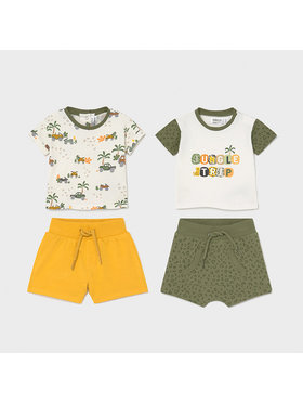 Mayoral Mayoral Σετ 2 t-shirts και παντελόνι 1657 Έγχρωμο Regular Fit
