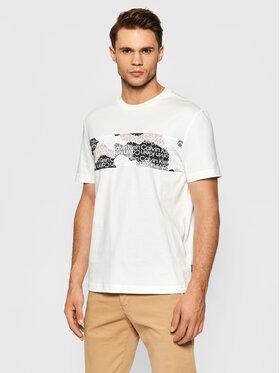 Calvin Klein Calvin Klein Тишърт Camouflage Logo K10K107603 Бял Regular Fit