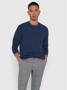 Only & Sons ONLY & SONS Sweatshirt Ceres Life Crew 22018683 Bleu marine Regular Fit