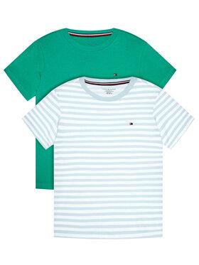 Tommy Hilfiger Tommy Hilfiger Komplet 2 t-shirtów 2P cn Tee UB0UB00314 Zielony Regular Fit