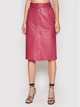 Custommade Custommade Spódnica skórzana Rinora 212418902 Różowy Regular Fit