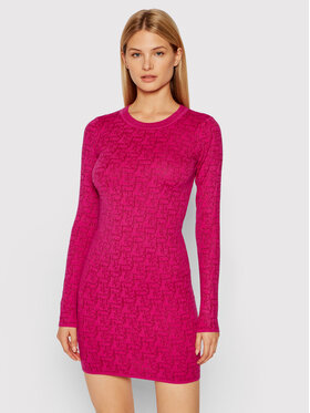 Pinko Pinko Sukienka dzianinowa Morasca 1G16CQ Y7GT Różowy Slim Fit