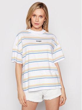 Wrangler Wrangler T-Shirt Girlfriend W7Q9GHX12 Biały Relaxed Fit