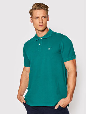 United Colors Of Benetton United Colors Of Benetton Polo 3089J3179 Zielony Regular Fit